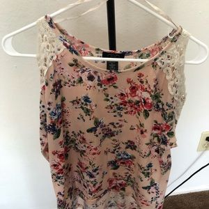 New Floral Long Sleeve with  Cut-out shoulders
